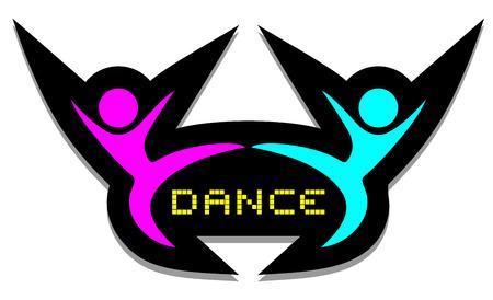 comic duo: Dance symbol