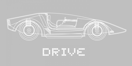 Elegant drive car Vector