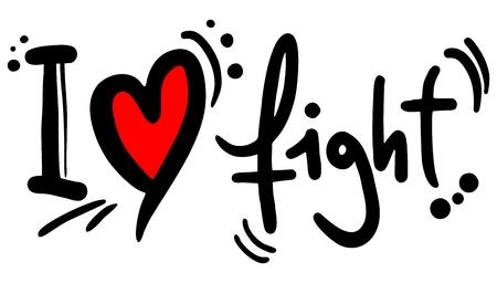conflagration: I love fight Illustration