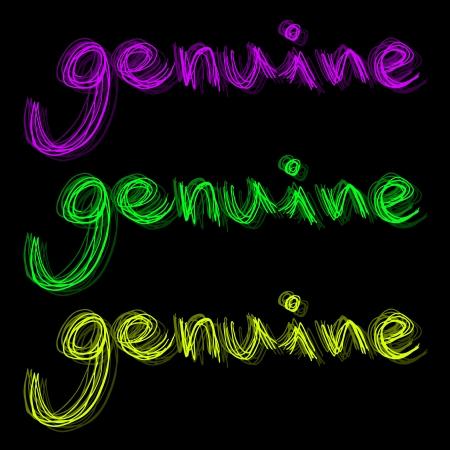 legitimate: Color genuine message Illustration