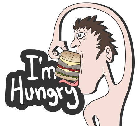 I am hungry Vector