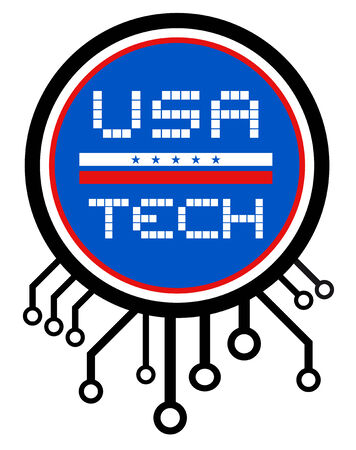 USA tech Vector