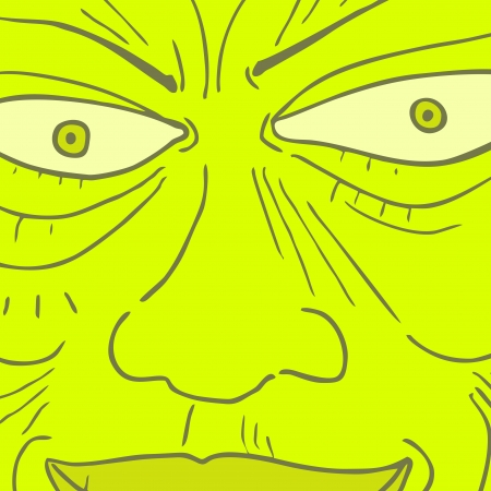 charismatic: Green monster mask