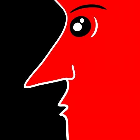 solvant: Conception cr�atrice de visage Illustration