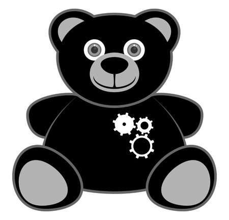 Robot bear Stock Vector - 25020002