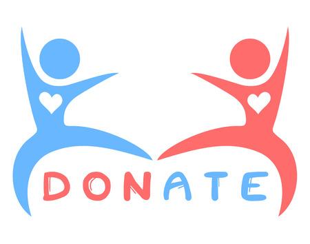 blood transfer: Donate symbol