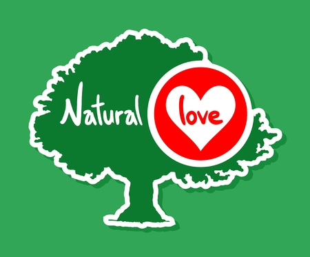 environmentalist label: Natural love tree