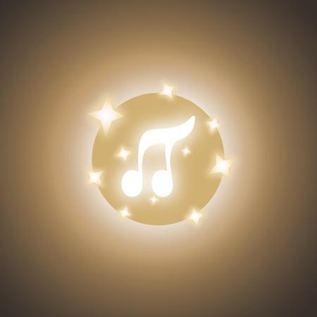 original single: Light music symbol Illustration