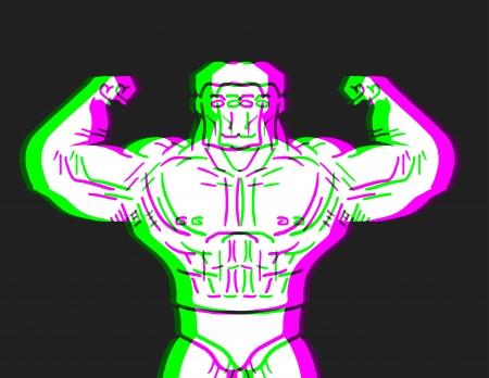 expesive: Hombre muscular Efecto