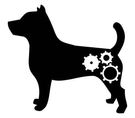 Dog tech Vector