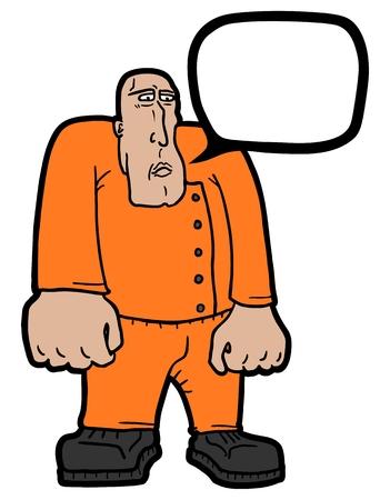 Strong man comic Vector