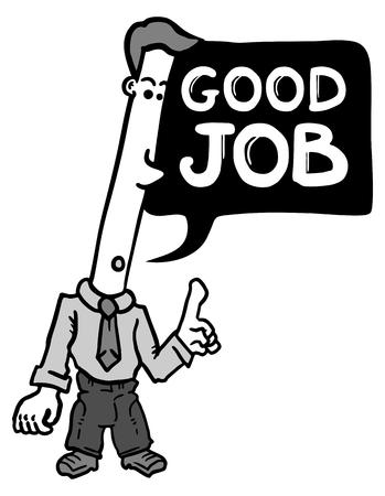 good job: Good job comic message Illustration