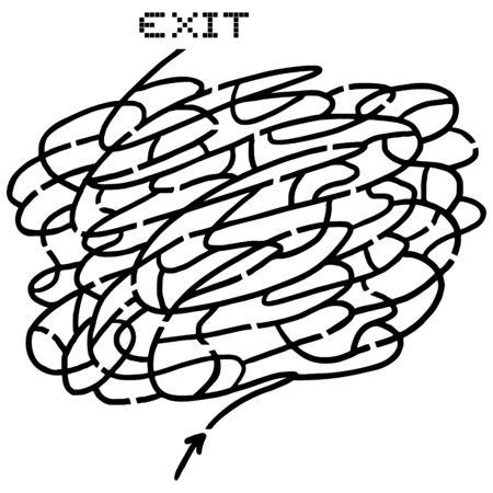 bustle: Creative art maze design Illustration