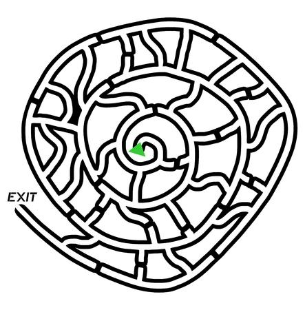 bustle: Circle maze design