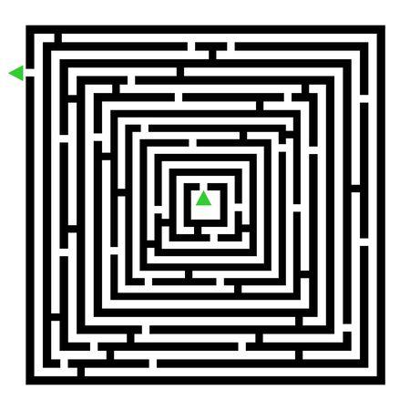 bustle: Square maze