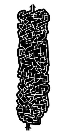 bustle: Vertical maze game Illustration