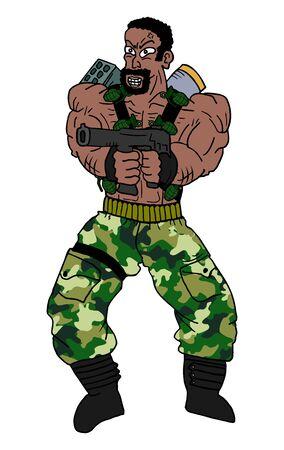 guerrilla warfare: Strong soldier