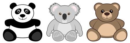 koala: Animales divertidos del bebé Vectores