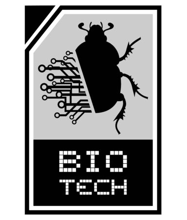 Bio tech beetle icon design Vector