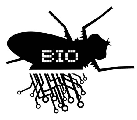 Bio industrial fly tech Vector