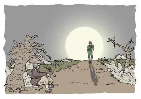 expressive style: Sun scene vector draw