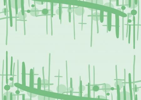 original single: Green frame Illustration
