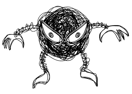 Creative monster design Vector
