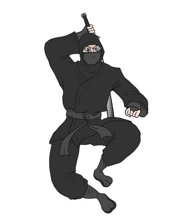 Black ninja Vector