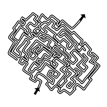 distraction: Maze brain game Illustration