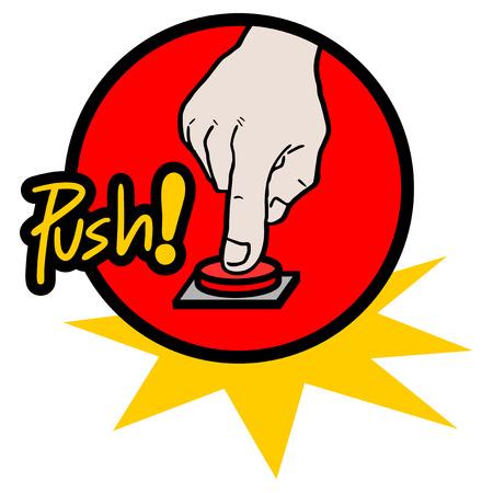 push button: Push button icon Illustration