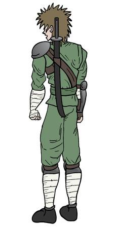 avenger: Samurai draw design