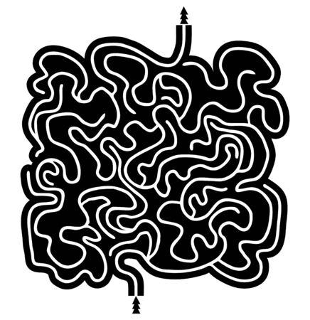 bustle: Creative maze vector