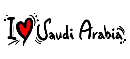 Saudi Arabia love Vector