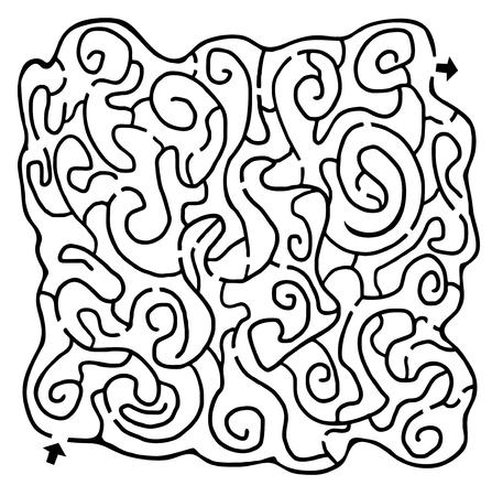 bustle: Abstract maze
