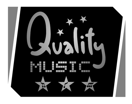 safety slogan: Quality music symbol