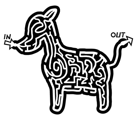 distraction: Dog maze