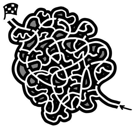 Maze game design Illustration