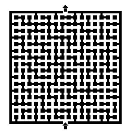 bustle: Square maze design
