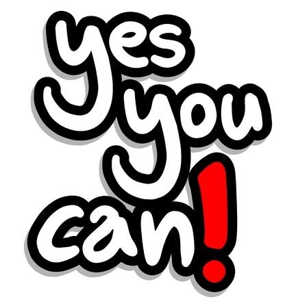 can yes you can: Yes you can message