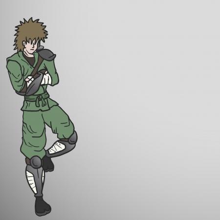 avenger: Samurai relax Illustration