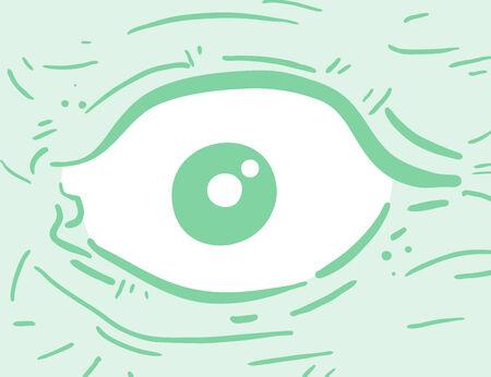eye green: Ojo verde