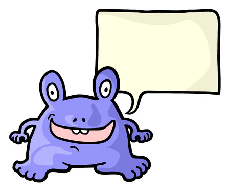 talkative: Purple monster comic