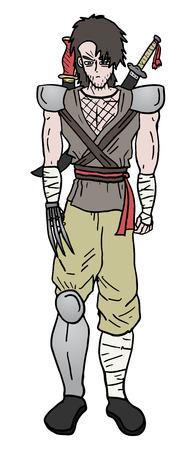 avenger: Warrior character Illustration