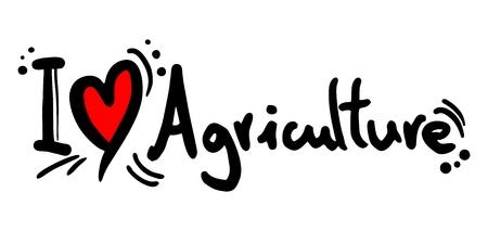 biology instruction: I love Agriculture Illustration