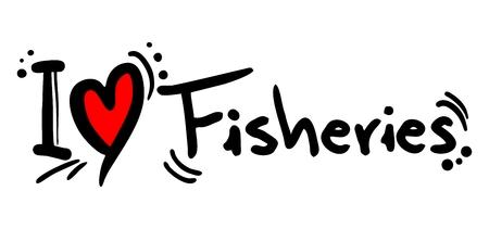 pesquero: Me encanta la Pesca Vectores