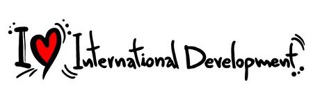 internationally: I love International Development