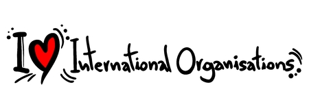I love International Organisations Vector