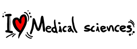 I love Medical sciences Stock Vector - 25698720