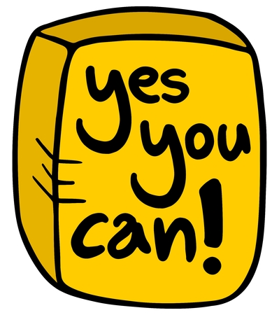 can yes you can: Yes you can message icon