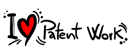 patent: I love Patent Work Illustration